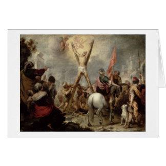 Cartes Le martyre de St Andrew, 1675-82 (huile sur le