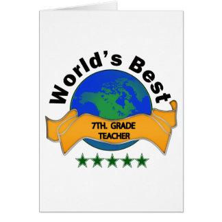 Cartes Le meilleur 7ème du monde. Professeur de catégorie