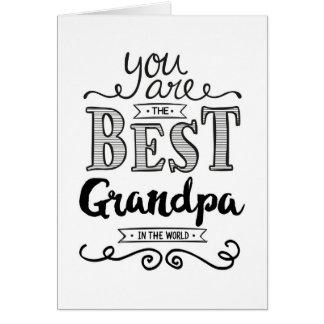 Cartes Le meilleur grand-papa dans l'anniversaire du