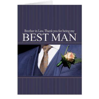 Cartes Le meilleur homme de beau-frère vous remercient