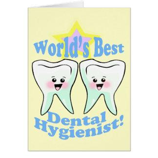 Cartes Le meilleur hygiéniste dentaire des mondes
