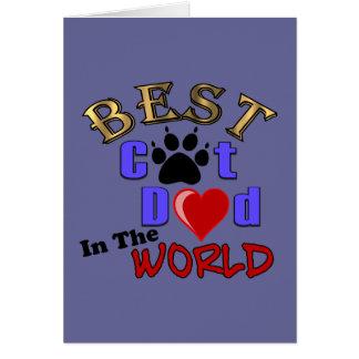 Cartes Le meilleur papa de chat dans le monde pour la