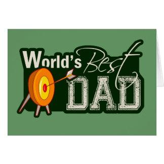 Cartes Le meilleur papa du monde ; Tir à l'arc