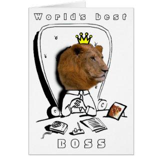 Cartes le meilleur patron du monde