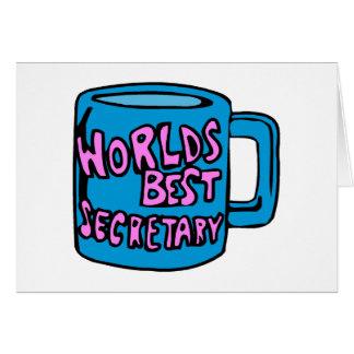 Cartes Le meilleur secrétaire des mondes