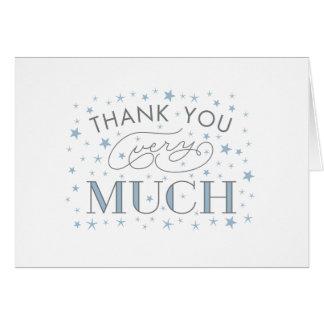 Cartes Le Merci vraiment baby shower d'étoile remercient