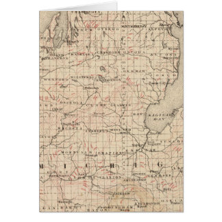 Cartes Le Michigan montrant des courbes de niveau