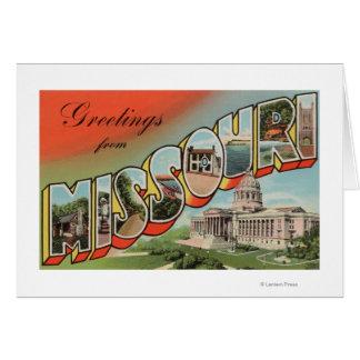 Cartes Le Missouri (bâtiment capital) - grande lettre