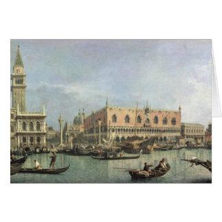 Cartes Le Molo et le Piazzetta San Marco, Venise (huile