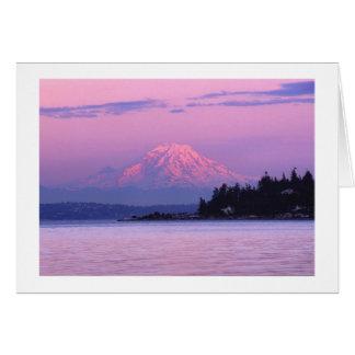 Cartes Le mont Rainier au coucher du soleil, l'état de