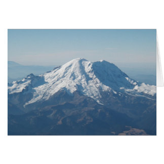 Cartes Le mont Rainier avec la neige de l'air