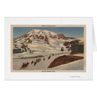 Cartes Le mont Rainier, WA - hommes à cheval sur