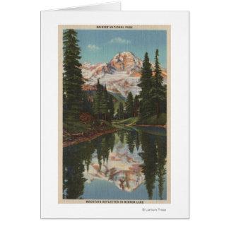 Cartes Le mont Rainier, WA - lac mirror avec la réflexion