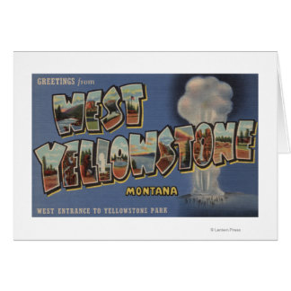 Cartes Le Montana - Yellowstone occidental - grandes