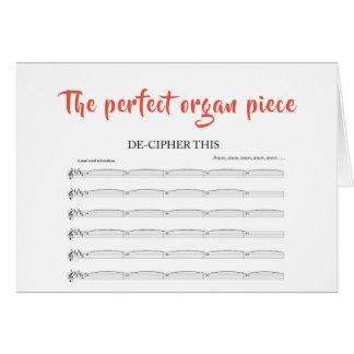 Cartes Le morceau parfait d'organe