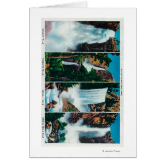 Cartes Le Nevada, Yosemite, vernaux, et automnes