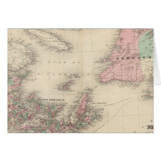 Cartes Le Nouveau Brunswick et la Nouvelle-Écosse