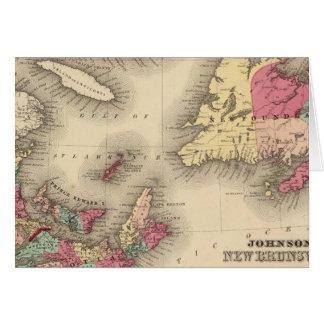 Cartes Le Nouveau Brunswick, la Nouvelle-Écosse,