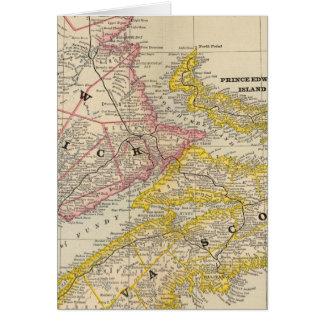 Cartes Le Nouveau Brunswick, la Nouvelle-Écosse