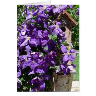 Cartes Le nouveau jour fait du jardinage clématite et