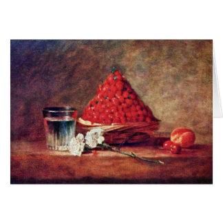Cartes Le panier de fraise par Chardin Jean-Baptiste Sim