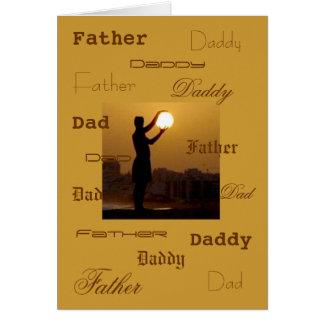 Cartes Le papa capture le soleil