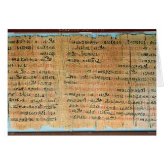 Cartes Le papyrus médical de Chester Beatty