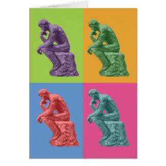 Cartes Le penseur de Rodin - art de bruit