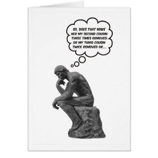 Cartes Le penseur de Rodin - cousins
