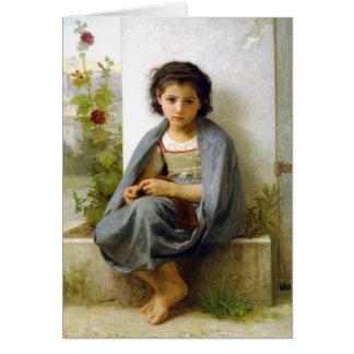 Cartes Le petit tricoteur - William-Adolphe Bouguereau