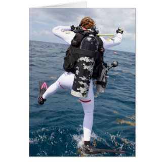 Cartes Le plongeur autonome sautent