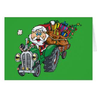 Cartes Le plouc père Noël vient à la ville sur son