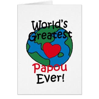 Cartes Le plus grand coeur de Papou du monde