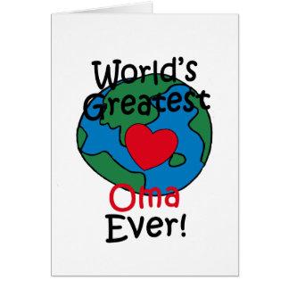 Cartes Le plus grand coeur d'Oma du monde