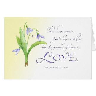 Cartes Le plus grand de ces derniers est amour