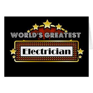 Cartes Le plus grand électricien du monde