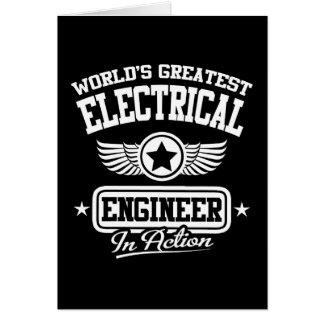 Cartes Le plus grand ingénieur électrique du monde dans