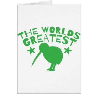 Cartes Le PLUS GRAND KIWI du monde (Nouvelle Zélande