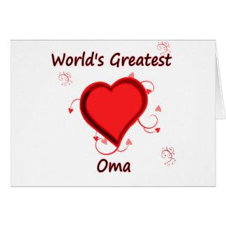 Cartes Le plus grand oma du monde