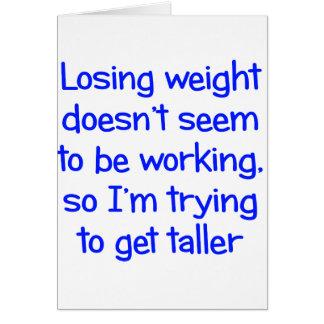 Cartes Le poids perdant ne semble pas fonctionner