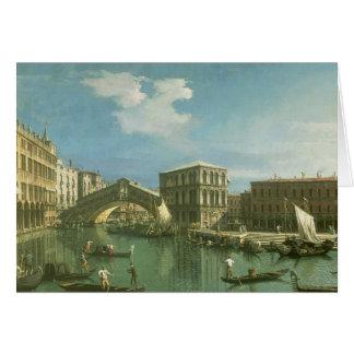 Cartes Le pont de Rialto, Venise