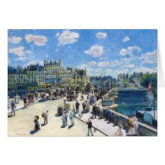 Cartes Le Pont-Neuf, peinture de Paris Pierre Auguste