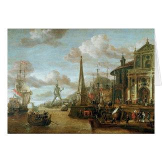 Cartes Le port de Rhodes