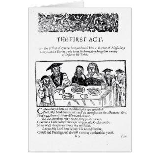 Cartes Le premier acte, un jeu satirique contre