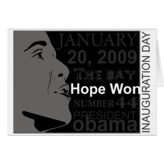 Cartes Le Président Obama - jour d'inauguration
