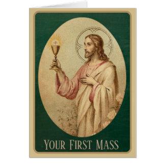 Cartes Le prêtre célèbre sa première masse