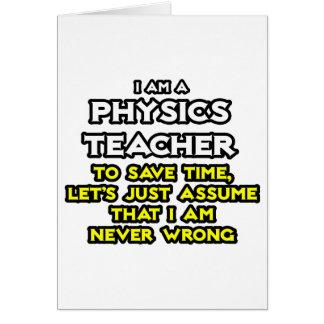 Cartes Le professeur de physique… supposent que je n'ai