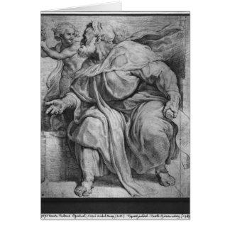 Cartes Le prophète Ezekiel, après Michangelo Buonarroti