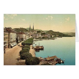 Cartes Le quai, de l'hôtel de cygne, luzerne, Switzerlan