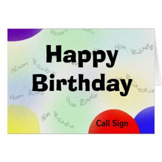 Cartes Le radio-amateur de joyeux anniversaire ondule la